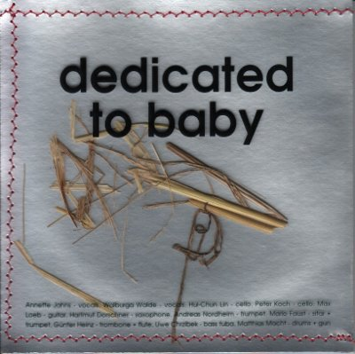 "CD Cover ""dedicated to baby"" 2013 front"